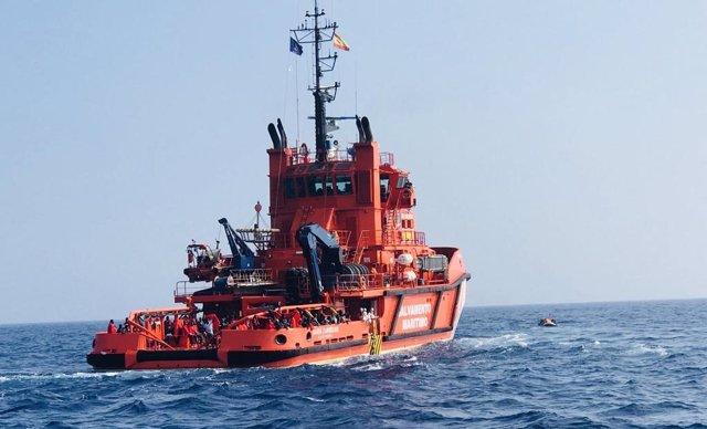 Salvamento, este martes en una operación por pateras en El Estrecho