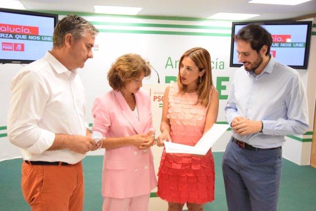 Beatriz Rubino (PSOE-A) en rueda de prensa