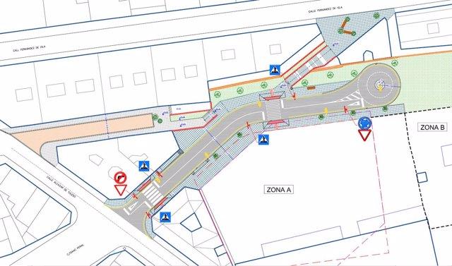 Plano urbanización viviendas calle Alta
