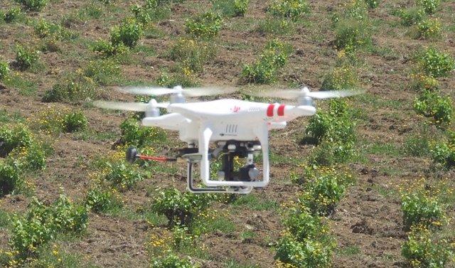 Dron utilizado en agricultura