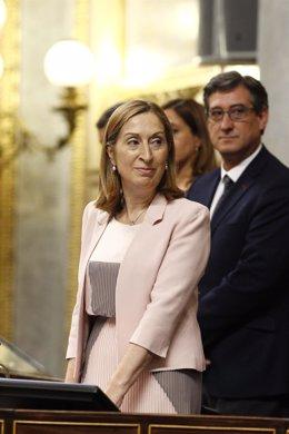 Ana Pastor e Ignacio Prendes en la sesión de constitución del Congreso