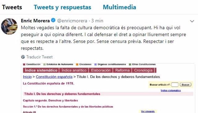 Tuit de Enric Morera