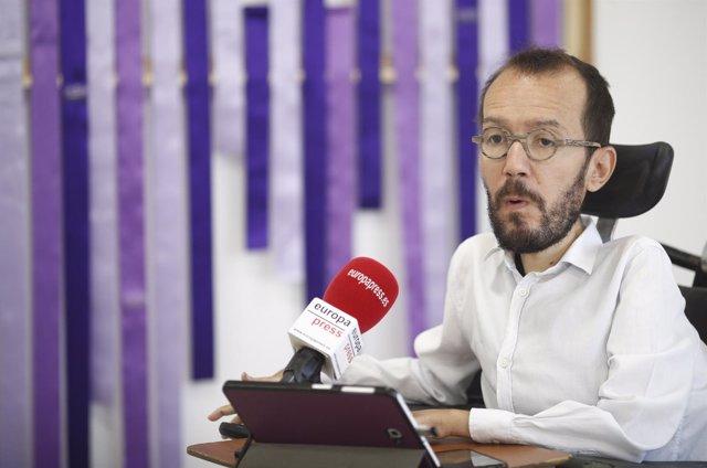 Entrevista de Europa Press a al secretario de Organización de Podemos y secretar