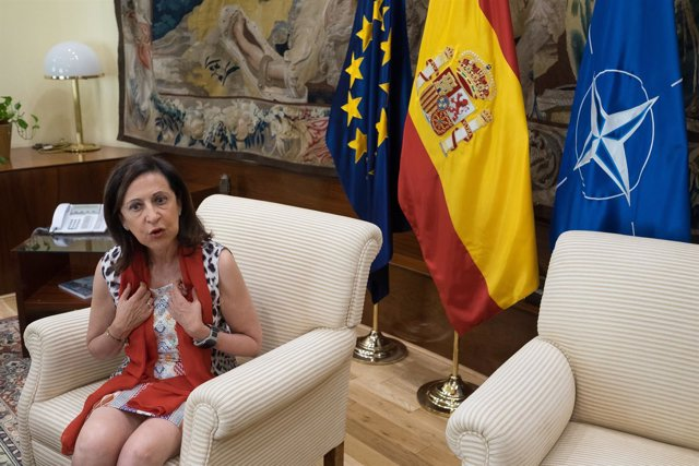 Entrevista de Europa Press a la ministra de Defensa, Margarita Robles