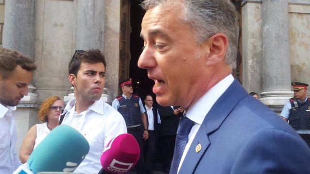 I.Urkullu ante la Generalitat en 2017