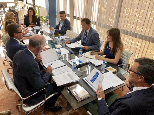 Imagen de la reunión bilateral