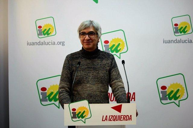 El coordinador provincial de IU Sevilla, Manuel Lay