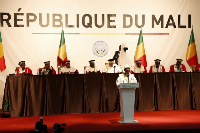 El presidente de Malí, Ibrahim Boubacar Keita, jura el cargo