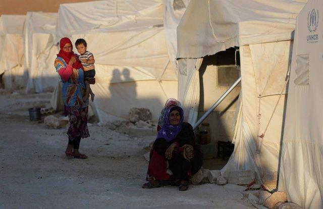 Desplazados internos en Idlib