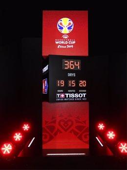 Tissot instala relojes de cuenta atrás para el Mundial de China 2019