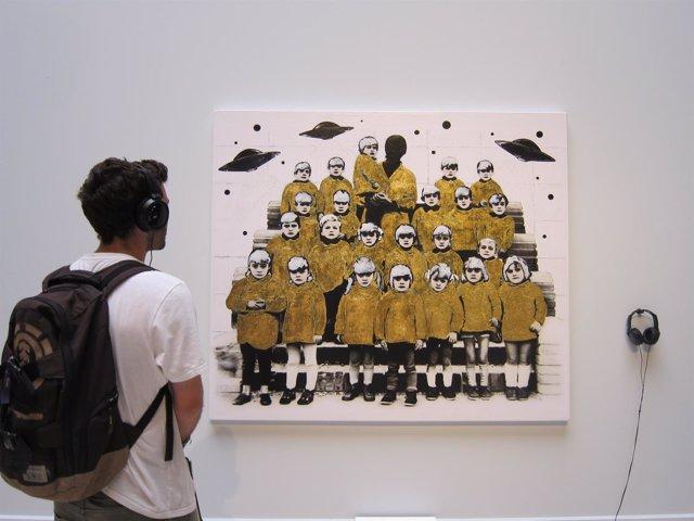 Una de las obras de arte presentadas al Premio de Santa Isabel de la DPZ