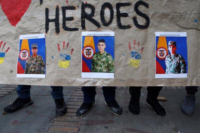 Imágenes de soldados secuestrados por el ELN