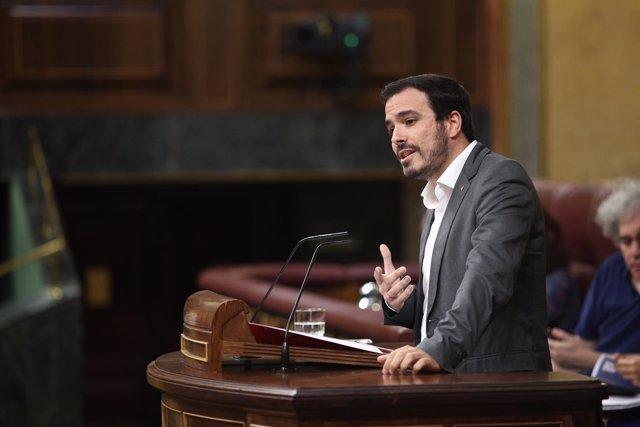 Alberto Garzón interviene en el Congreso