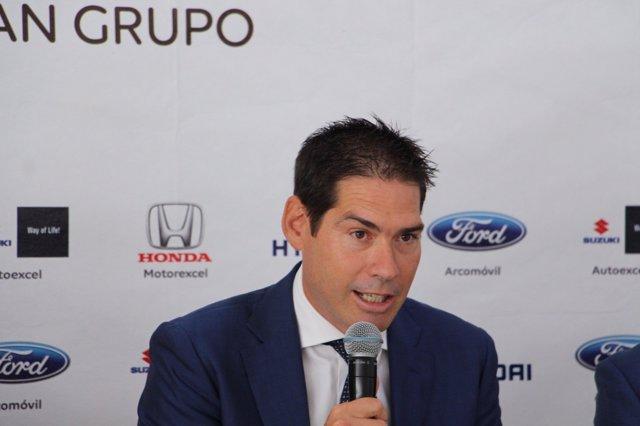 Kike Boned, en su presentación como Vicepresidente Ejecutivo de ElPozo Murcia FS