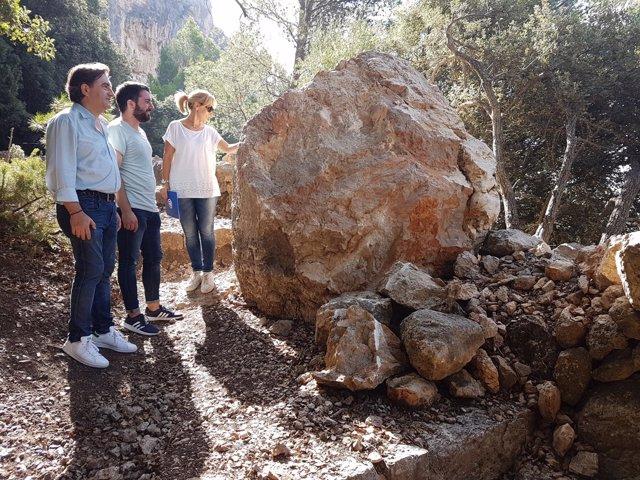 Mauricio Rovira visita el camino al Castillo de Alaró