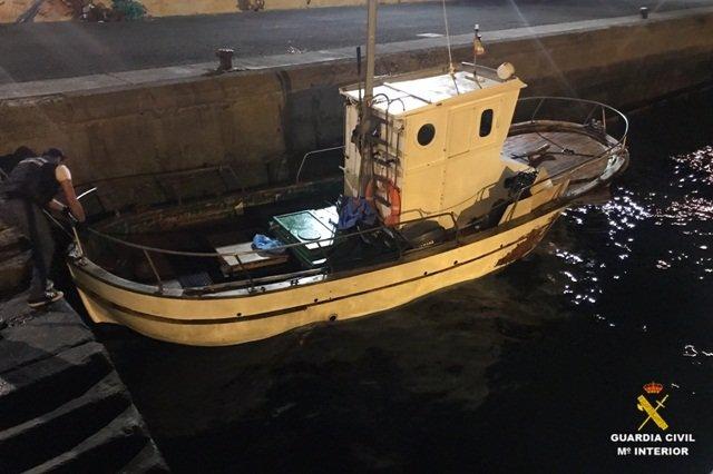 La Guardia Civil intercepta 2.650 kilos hachís, pesqueros y otros vehículos