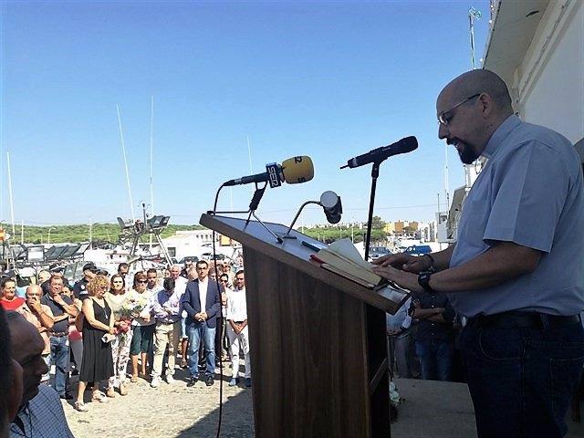 Acto en recuerdo del naufragio del Nuevo Pepita Aurora en Barbate