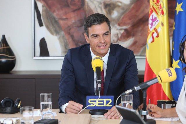 Pedro Sánchez entrevistado en la Cadena Ser