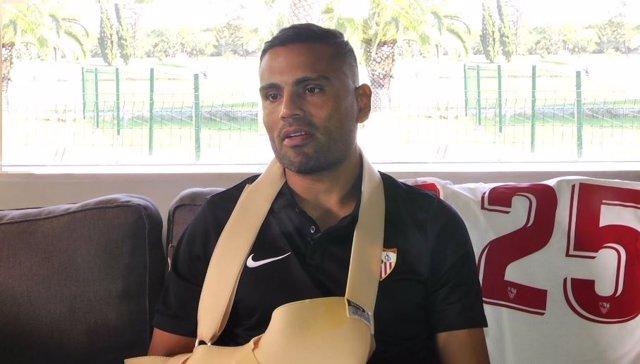 El defensa argentino del Sevilla FC Gabriel Mercado