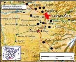Terremoto con epicentro en Alhendín (Granada)