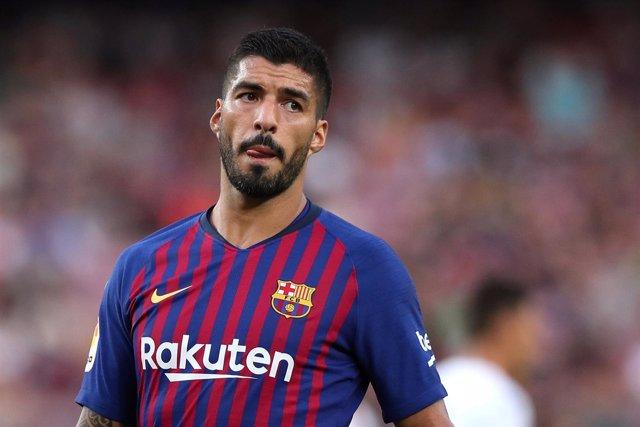 Luis Suárez con el Barça
