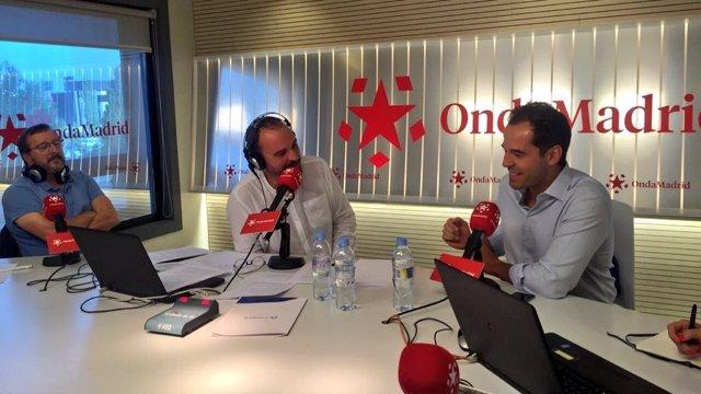 El portavoz de Ciudadanos en la Asamblea, Ignacio Aguado, en Onda Madrid