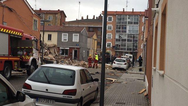 Explosión en una vivienda de Burgos. 5-9-2018