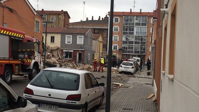 Vivienda siniestrada en Burgos