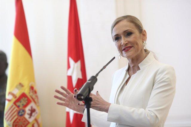 Rueda de prensa de Cristina Cifuentes