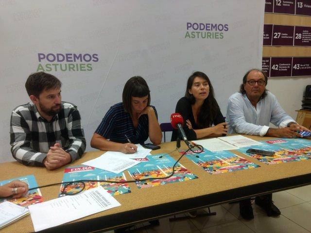 Rueda de prensa de Podemos Asturies.