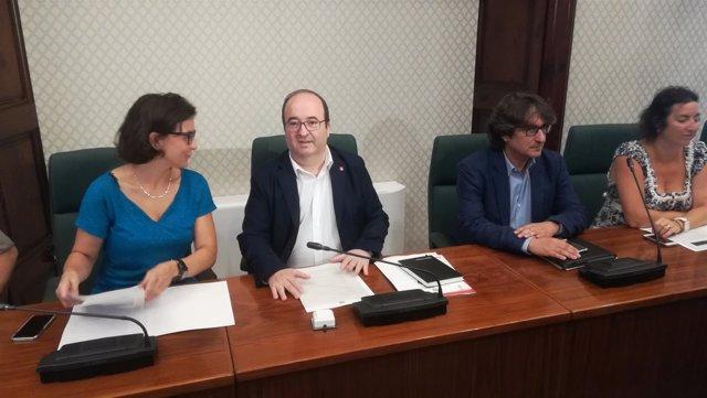 Eva Granados, Miquel Iceta, David Pérez y Alícia Romero (PSC)