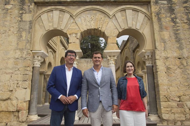 Albert Rivera en su visita al Conjunto Arqueológico de Medina Azahara