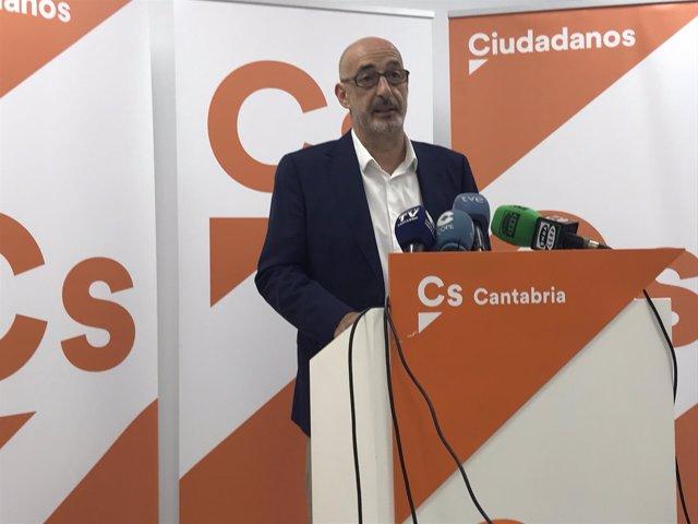 El portavoz de Cs en Cantabria, Félix Álvarez