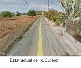 Estado actual de la calle Cullerot en Sant Josep