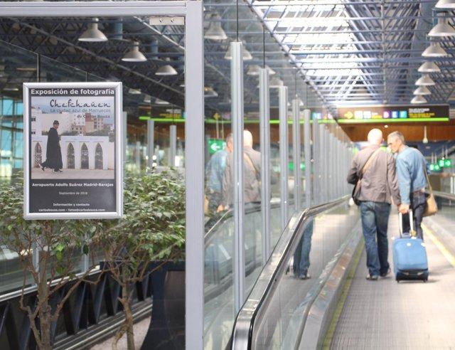 Exposición fotográfica en el aeropuerto de Barajas