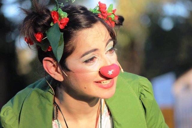 Una clown en el Festival de Circo de Navalmoral