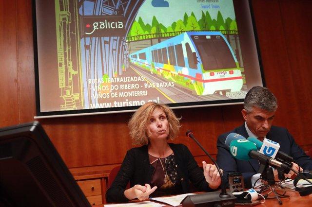 A Directora De Turismo De Galicia, Nava Castro, Acompañada Do Xerente Da Área Co