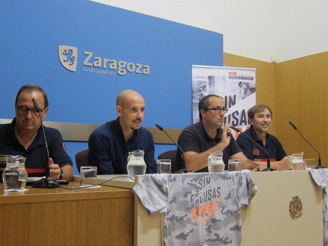 Presentación de la 10K Bomberos, hoy en el Ayuntamiento de Zaragoza