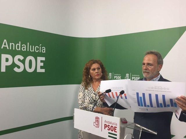 Salvador de la Encina y Araceli Maese en rueda de prensa