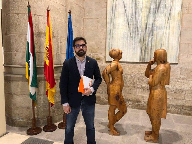 Diego Ubis, portavoz de CS en el Parlamento