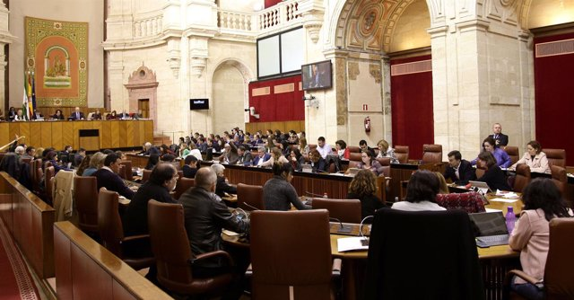 Imagen del Pleno del Parlamento andaluz