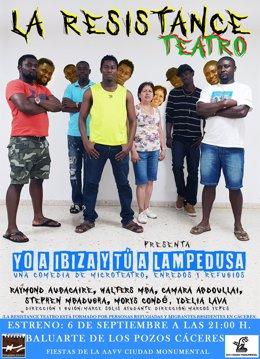 Cartel de Yo a Ibiza y tú a Lampedusa