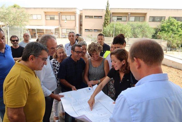 El conseller March visita las obras del IES Puig de Sa Font de Son Servera