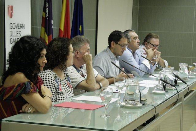 Negueruela, Silvia Montejano, Antonio Copete y Alfonso Robledo