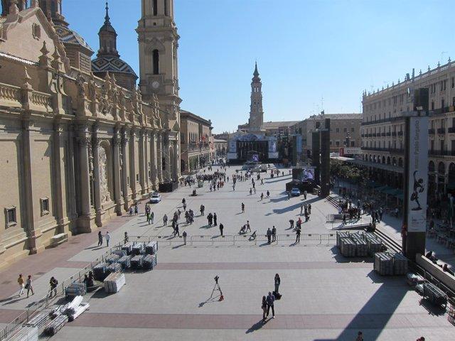 Panorámica de la Plaza del Pilar