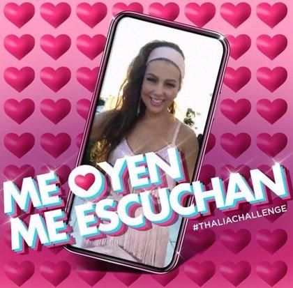 Thalía reta a sus seguidores a realizar un flashmob y conseguir un récord Guinness con el hit 'Me oyen, me escuchan'