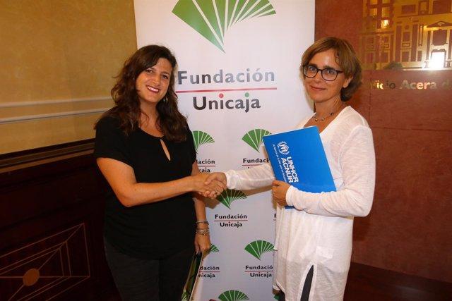Colaboracion Fundación Unicaja con Acnur