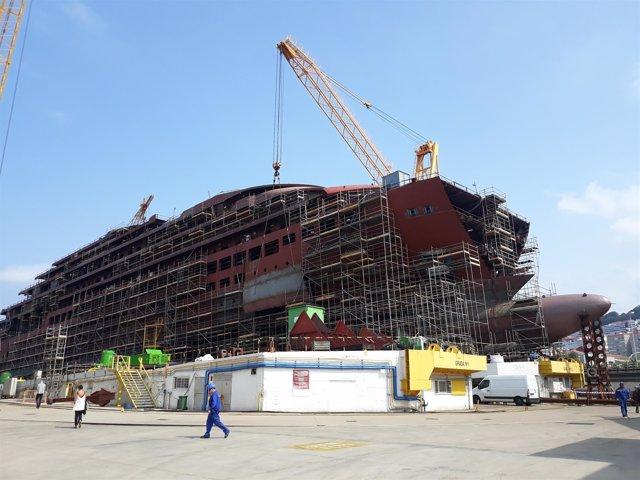 Crucero de lujo que construye Barreras para The Ritz-Carlton