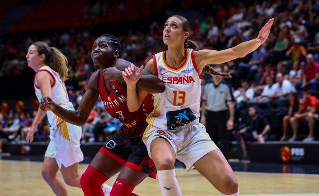 Tamara Abalde con la selección española