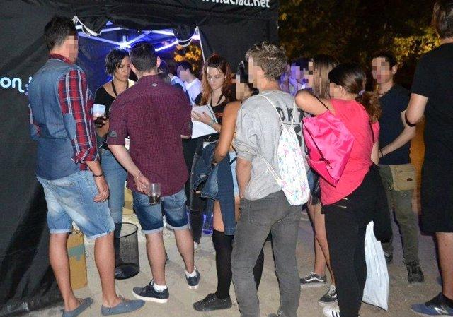 Actividad prevención de drogas en Moreras 5-9-2018